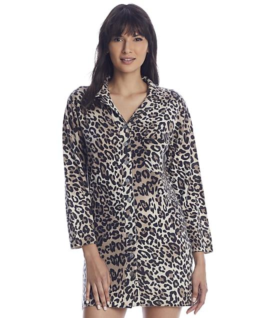 Arlotta Cashmere Sleep Shirt in Leopard 6010