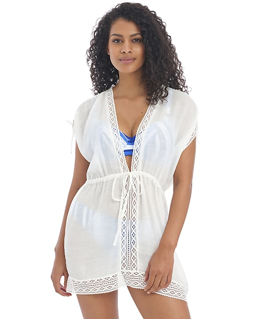 Freya Sunscape Tunic Cover-Up in White(Front Views) AS201590