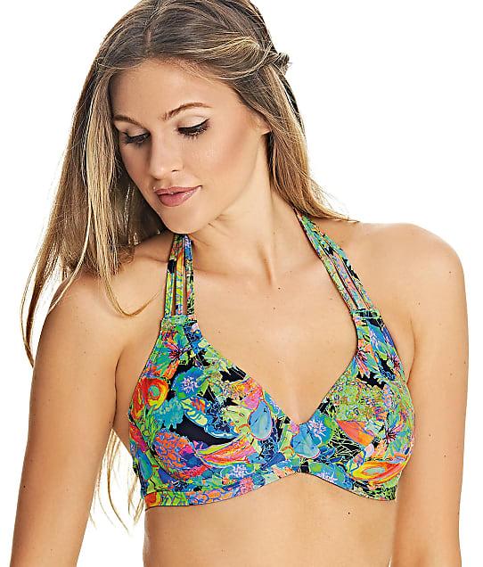 Freya Island Girl Halter Bikini Top in Black AS2980