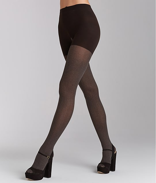 RED HOT SPANX: Herringbone Shaping Tights