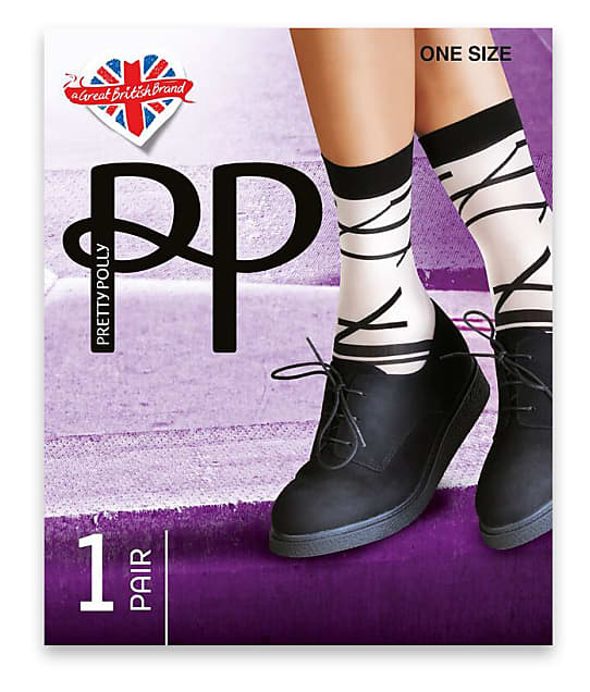 Pretty Polly: Abstract Linear Anklet Socks