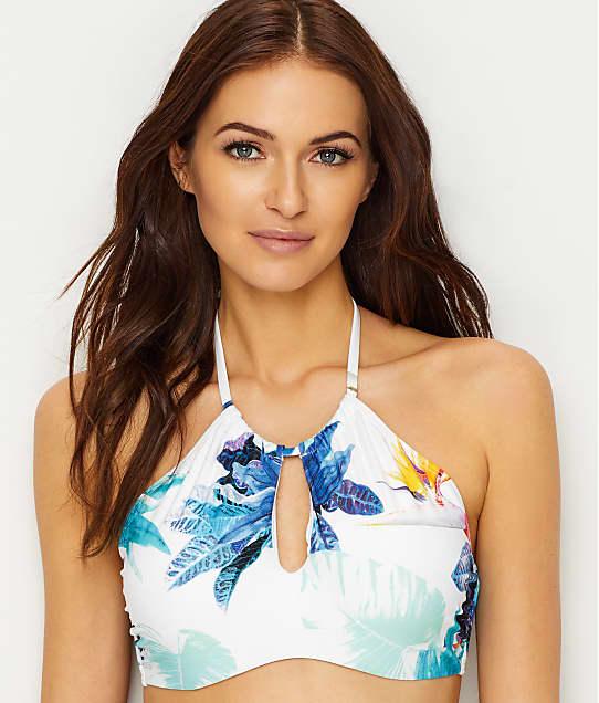 Azura: Calypso High Neck Underwire Bikini Top D-Cups