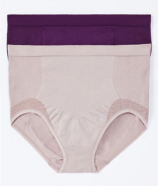 Bali Comfort Revolution Firm Control Brief 2-Pack in Venetian Purple(Front Views) DF0048