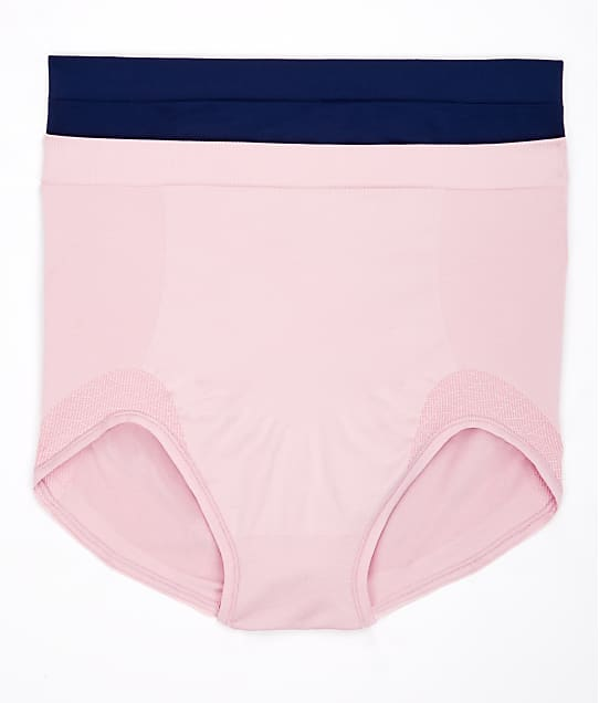 Bali Comfort Revolution Firm Control Brief 2-Pack in Hush Pink / Navy DF0048
