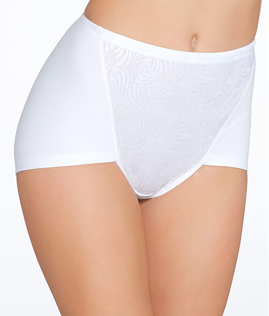 Bali Firm Control Cotton Brief 2-Pack in White DF6510