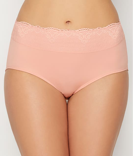 Bali Smooth Passion For Comfort Lace Brief in Sheer Pale Pink DFPC61L