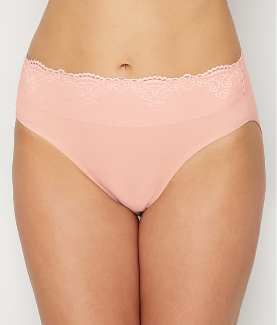 Bali Smooth Passion For Comfort  Lace Hi Cut Brief in Sheer Pale Pink DFPC62L