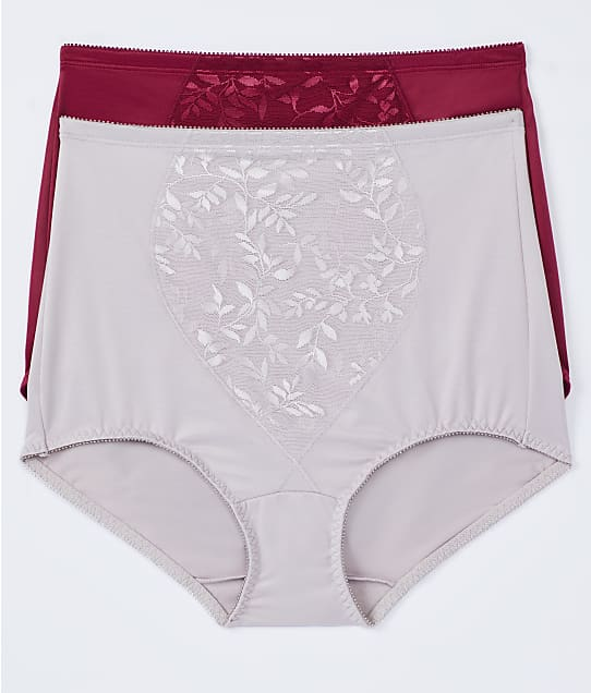 Bali Tummy Panel Firm Control Brief 2-Pack in Spice Market Red(Front Views) X710
