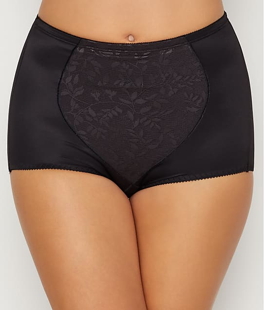 Bali Tummy Panel Firm Control Brief 2-Pack in Jacquard Black(Full Sets) X710