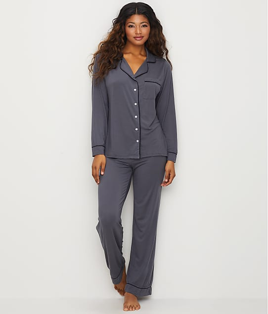 Barefoot Dreams: Luxe Milk Jersey Piped Modal Pajama Set
