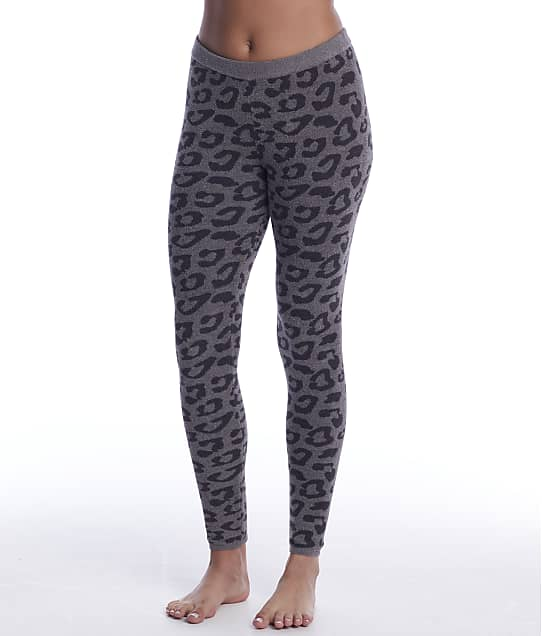 Barefoot Dreams CozyChic Ultra Lite Leopard Leggings in Graphite / Carbon BDWCU1651