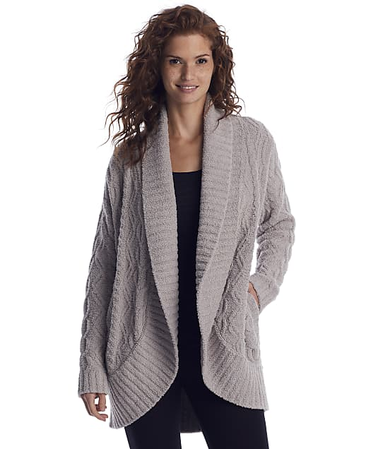 Barefoot Dreams: CozyChic Cable Shawl Cardi
