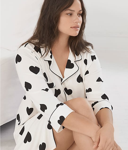 Bare Necessities Cool Jade Light Nights Sleepshirt in Graphic Heart(Front Views) R45B600