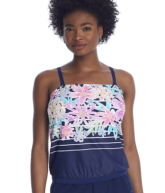 Beach House Between The Lines Blouson Bandini Top in Admiral H55738