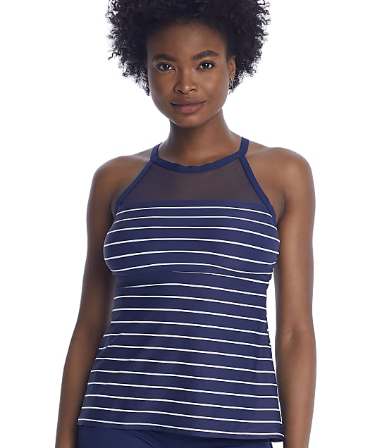 Beach House Ready Or Yacht High-Neck Tankini Top in Admiral H56551