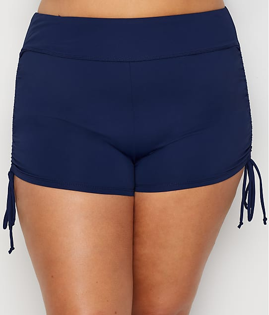 Beach House: Plus Size Paloma Beach Adjustable Side Tie Swim Shorts