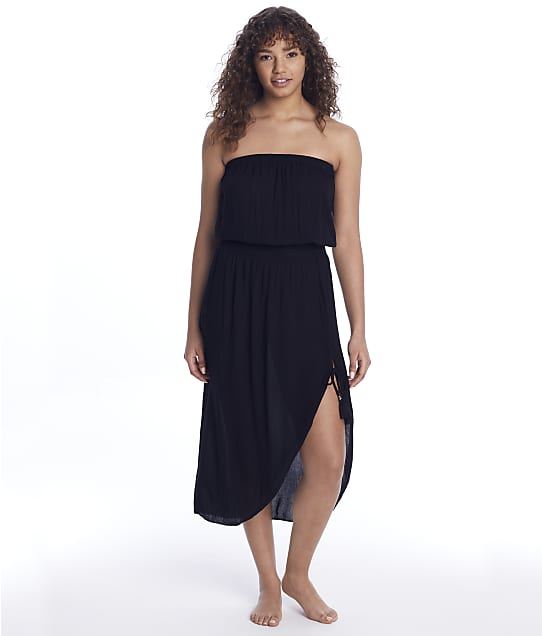Becca Ponza Woven Cover-Up Dress in Black 3060171