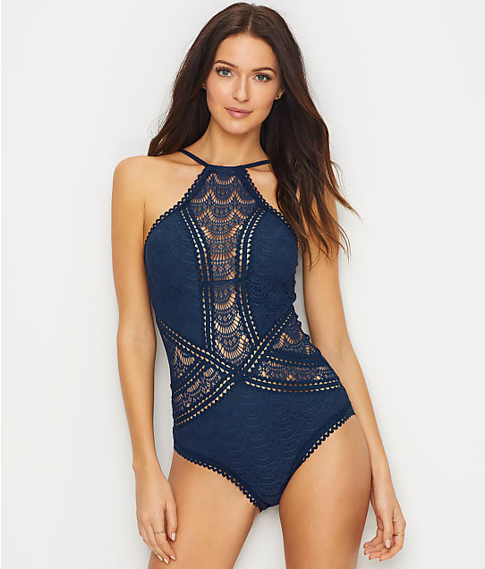 Becca: Color Play High Neck Wire-Free One-Piece