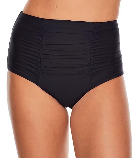 Becca Color Code Vintage High-Waist Bikini Bottom in Black 854627