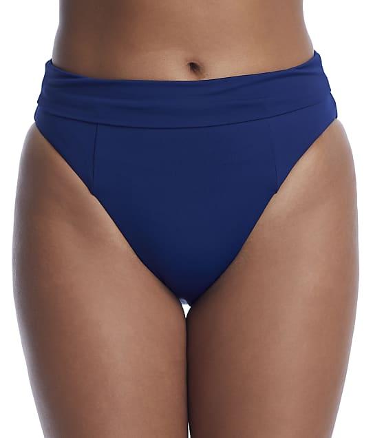 Becca Color Code High-Waist Bikini Bottom in Marina(Front Views) 858607
