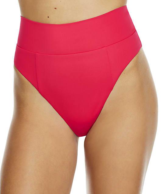 Becca Color Code High-Waist Bikini Bottom in Cherry 858607