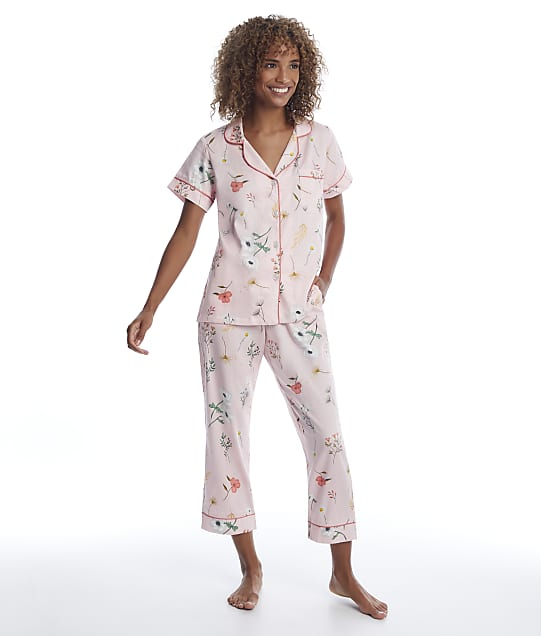 Bedhead: Flower Study Sateen Cropped Pajama Set