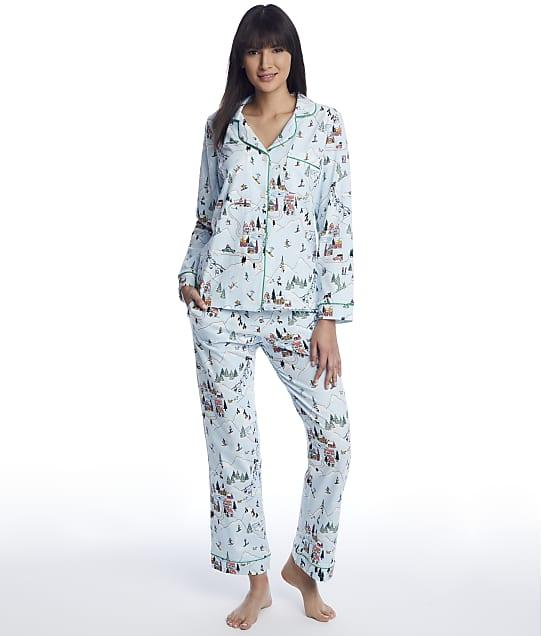 Bedhead: Blue Ski Village Knit Pajama Set