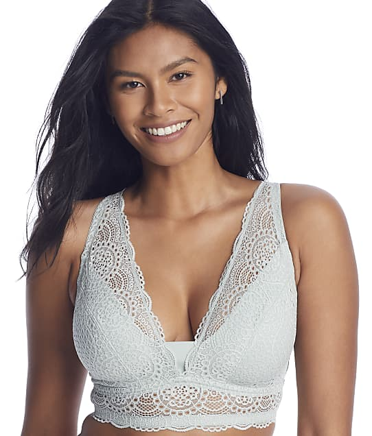 Birdsong Courtney Curvy Bralette in Sage(Front Views) A10180