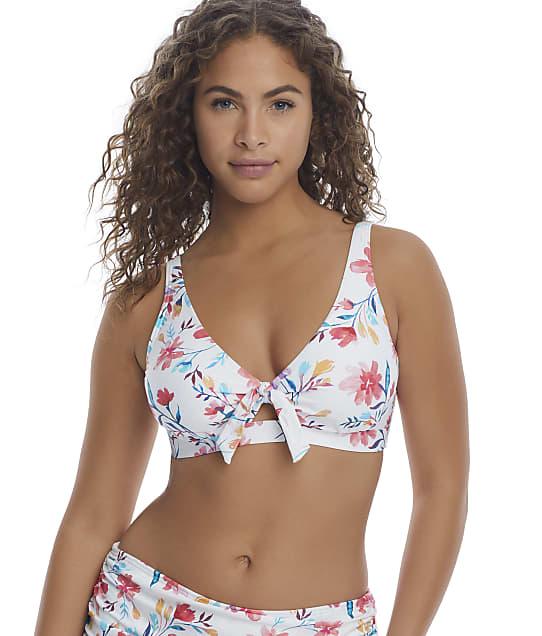 Birdsong Fleur Tie Front Bikini Top in Fleur(Full Sets) S10144-FLEUR