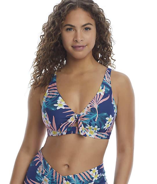 Birdsong Laguna Tie Front Bikini Top in Laguna(Full Sets) S10144-LAGUN