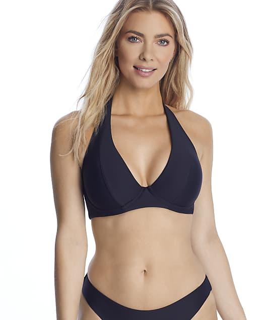 Birdsong Onyx Underwire Halter Bikini Top in Onyx(Front Views) S10174-ONYX