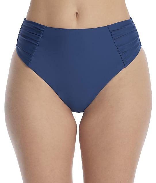 Birdsong Dori Ruched High-Waist Bikini Bottom in Dori(Front Views) S20154-DORI