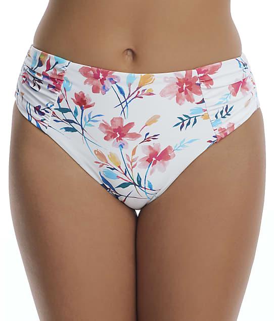 Birdsong: Fleur Ruched High-Waist Bikini Bottom