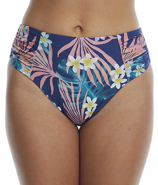 Birdsong: Laguna Ruched High-Waist Bikini Bottom