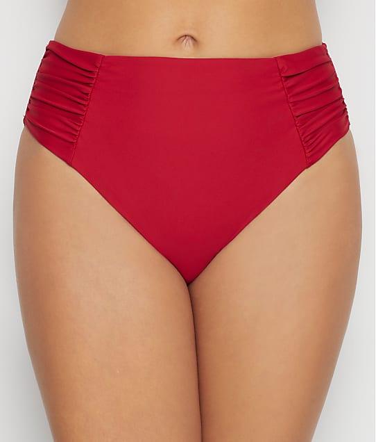 Birdsong: Rouge Ruched High-Waist Bikini Bottom