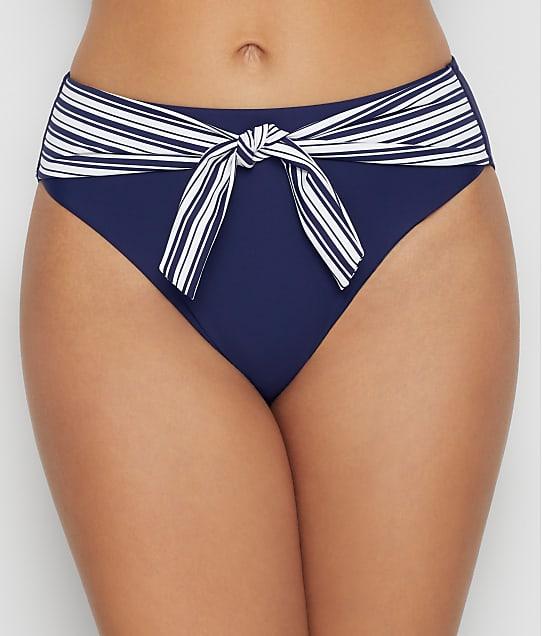 Birdsong Newport Stripe High-Waist Bikini Bottom in Newport Stripe S20155-NWST