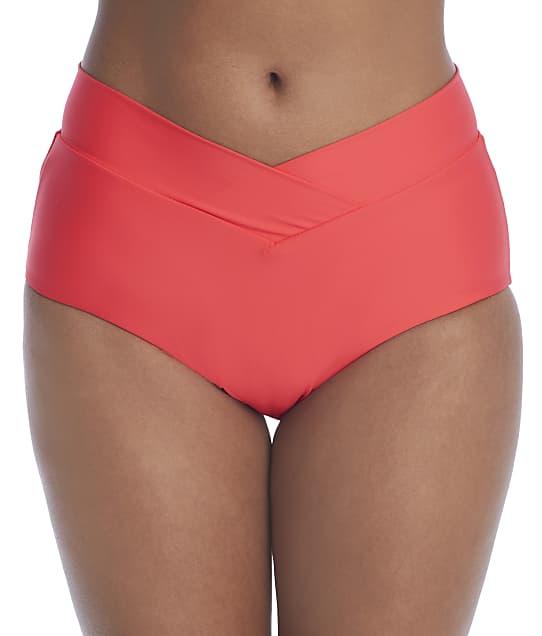 Birdsong Ginger Retro Full Bikini Bottom in Ginger(Front Views) S20179-GINGE