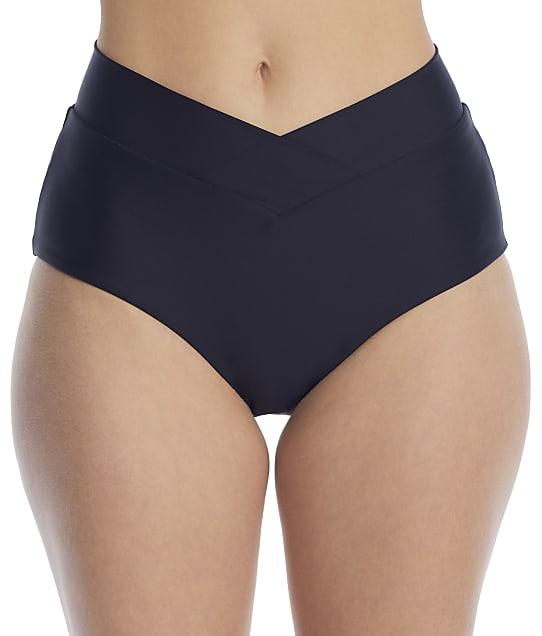 Birdsong Onyx Retro Full Bikini Bottom in Onyx(Front Views) S20179-ONYX