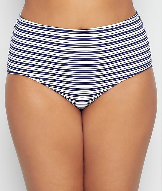 Birdsong: Plus Size Newport Stripe Bikini Bottom