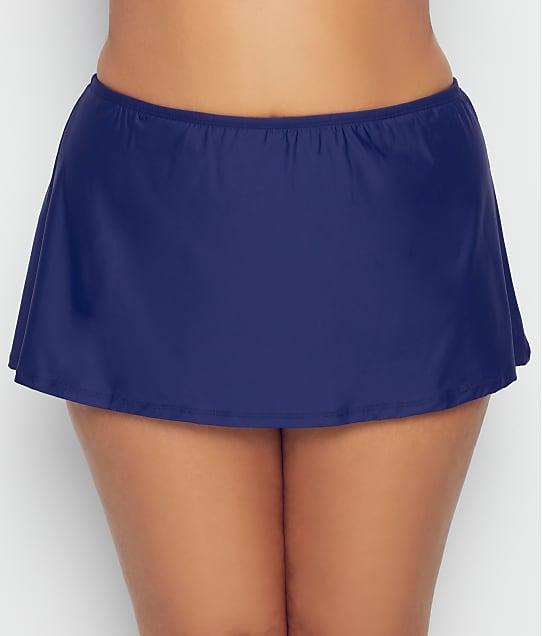 Birdsong: Plus Size Midnight Basic Skirted Bikini Bottom