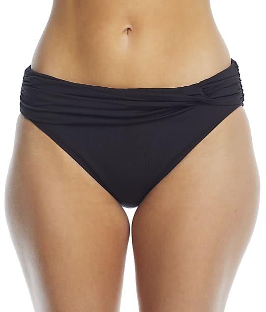 Bleu Rod Beattie Classic Twist Banded Hipster Bikini Bottom in Black RBTT20584