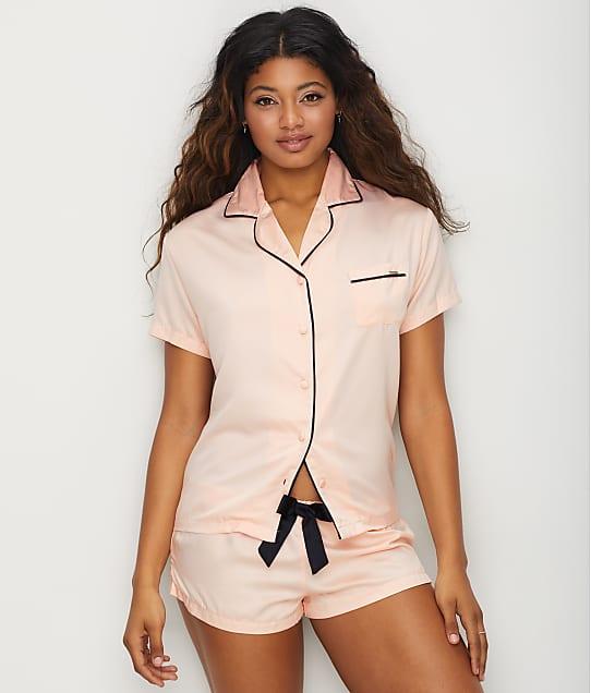 Bluebella Abigail Satin Pajama Set in Pale Pink / Black 31597