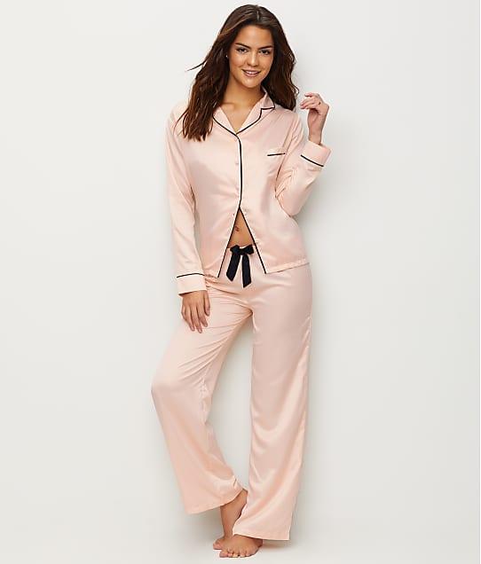Bluebella Abigail Satin Pajama Set in Pink / Black 31598