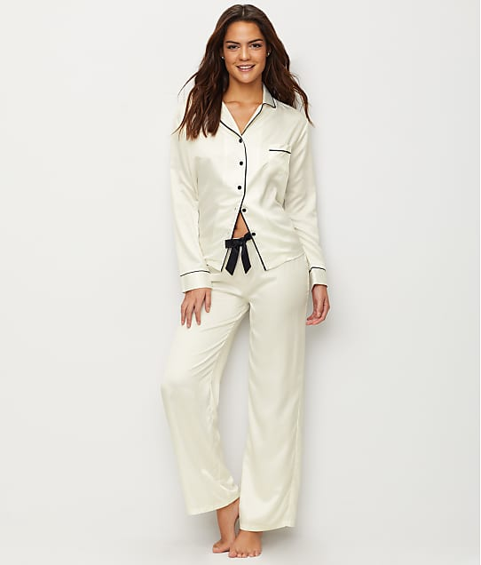 Bluebella: Claudia Satin Cream Pajama Set