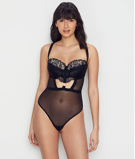 Bluebella Elisabetta Bodysuit in Black / Rose Dust 40970
