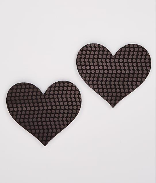 B-Six: Blackout Sequin Heart Pasties