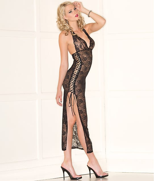 Be Wicked: Side Tie Long Gown
