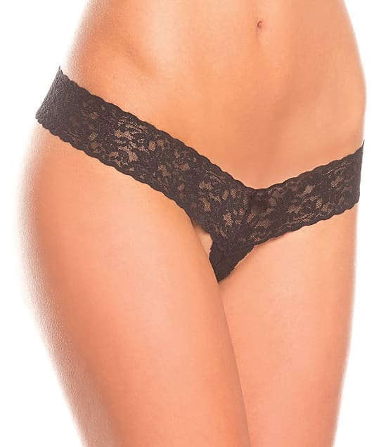Be Wicked: Crotchless Lace Thong