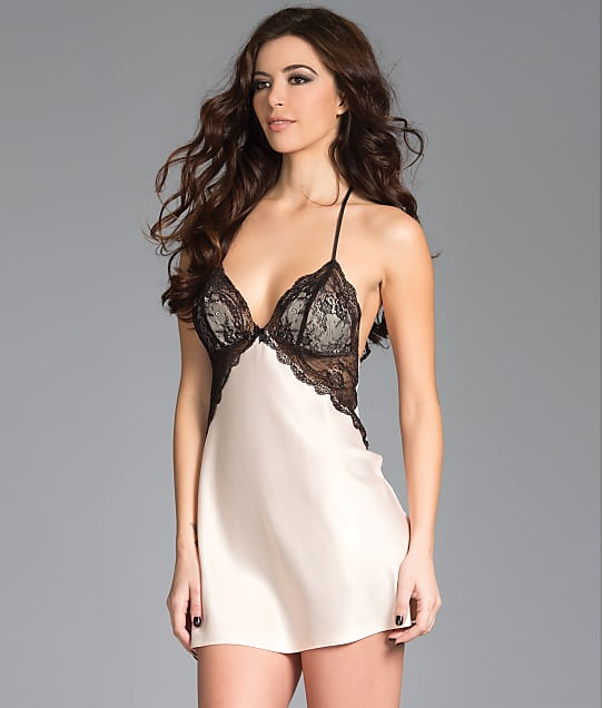 Be Wicked: Satin Lace Chemise Set
