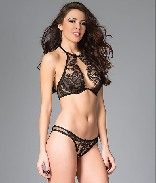 Be Wicked: High Neck Crotchless Bra & Panty Set